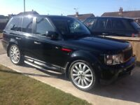 RANGE ROVER SPORT BLACK HSE 22 ALLOYS LED HEADLIGHTS UPGRADED GRILLS SWAP PX