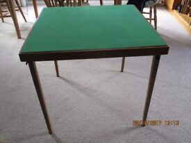 Green baize card table