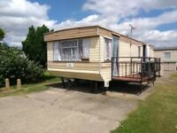 TWO CARAVANS FOR HIRE AT HEMSBY NEAR GREAT YARMOUTH NORFOLK