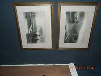 Both original charcoal drowings