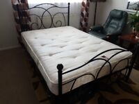 Double bed with good quality and comortable mattress and two drawers under the bed