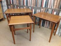 Nest of 3 Tables G Plan. Vintage 1970's. Coffee table / side table / occasional