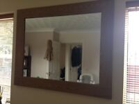 Next Oak Veneer Mirror