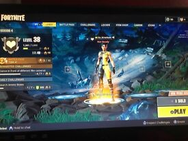 PS4 console with fortnite account (450+wins)