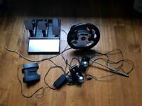Fanatec racing steering wheel and all extras