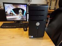 Full pc system windows 10, flat screen monitor, keyboard, mouse