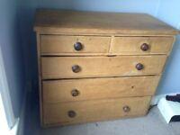 Vintage Rustic Solid Pine Dresser