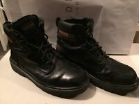 Trojan black safety boots size 11 steel toe cap