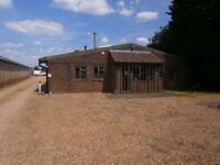 Gated yard with office space for rent in cottenham