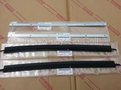 Toyota Land Cruiser FJ4# Door Glass Outer Weatherstrip & Plate set Genuine OEM