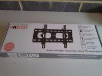 Flat screenTV wall bracket by Designer HABITAT, low profile and tilting MAX load 75 kgsNEW