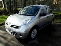 NISSAN MICRA with New Tyres, New Battery, Service history, 2 keys