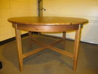 ROUND ANTIQUE PINE EXTENDING DINING TABLE FREE DELIVERY