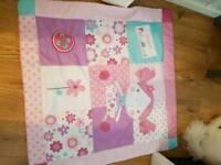 Baby girls pink play mat