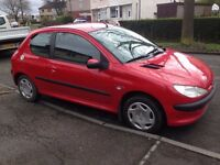 Peugeot 206 full service history 1year M.O.T very clean and tidy CHEAP insurance