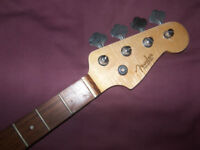 Fender Squier Precision Bass Style Neck Rosewood + Tuners.