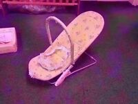 Deluxe vibrating bouncing cradle nearly new, boxed