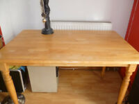 Dining Table - (wood) - two chairs
