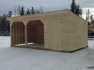Animal Shelters, Firewood Shelter, Custom Shelters, Do you ever get snow or rain? Need something covered?