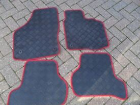 GENUINE FULL SET TAILORED RUBBER CAR MATS FIT SEAT LEON MK2