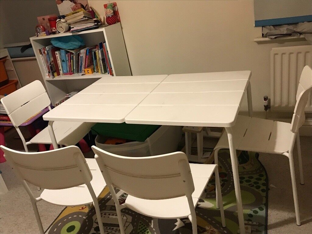 Ikea garden table and 4 chairs camden
