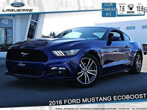 2016 Ford Mustang ECOBOOST PREMIUM**CUIR*CAMERA*BLUETOOTH*A/C**