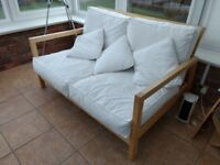 2 seater IKEA lillborg sofa and replacement covers