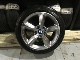 ALLOYS X 4 OF 17 INCH GENUINE BMW 1 SERIES FULLY POWDERCOATED INA STUNNING SHADOW/CHROME NICE ALLOYS