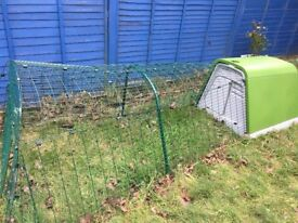 EGLO rabbit hutch and run SOLD