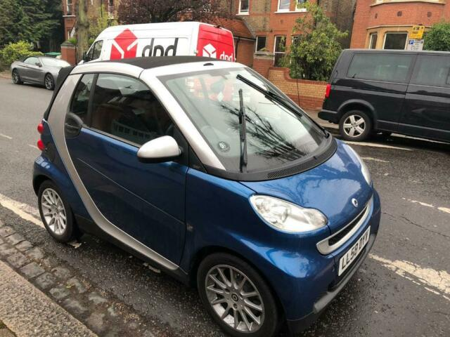 SMART FORTWO 2009 BLUE PASSION CONVERTIBLE AUTOMATIC !! | in Acton, London  | Gumtree