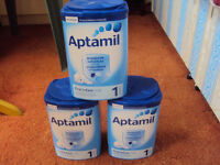 3 x 900g Cartons of Aptamil First Infant Milk