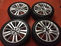 20'' GENUINE RANGE ROVER LAND SPORT DISCOVERY 3 4 ALLOY WHEELS TYRES 5X120 T5 TRANSPORTER VW HSE