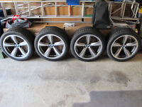 BMW '249' (genuine) alloy wheels staggered widths and with brand new winter tyres.