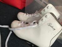 Size 2 used girls figure skates