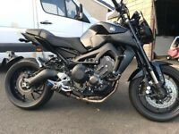 YAMAHA MT09 ABS 2017 TWIN EYE MODEL BLACK & EXTRAS