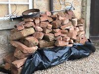 Red sandstone blocks reclaimed around 3 tonnes