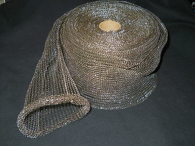 Roll Of Approx 75ft X 5.25 Stretchy Metal Wire Mesh Scourer Shielding Sleeve