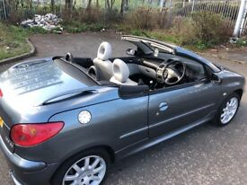 ((( CONVERTIBLE - LOW MILEAGE )))* PEUGEOT 206 1.6*LEATHER*MOT-1 YEAR*F/S/H*METALLIC*ALLOY*EXCELLENT