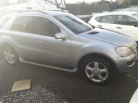 2007 MERCEDES W164 ML320 SPORT CDi AUTO/TIPTRONIC 7G,GREATCOMFORTABLE V6 WORKHORSE.PART EXCHANGE