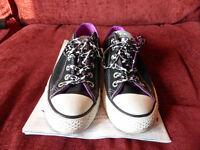 Athletics Converse Women's All Star Multi Tongue Black/Purple/Multi Size 7
