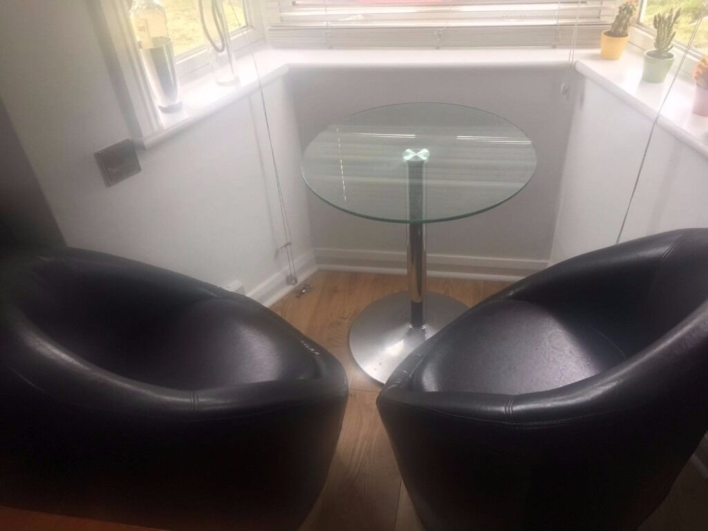 armchairs faux leather, 2 crystal tablesin Brighton, East SussexGumtree - 2 armchairs faux leather, great treats, only 20 £ each, coordinated 2 crystal tables , one medium 20 £and the other small 15£ 5 pounds more delivery in brighton