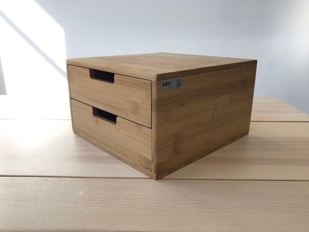 So Bamboo Home Office Desk Tidy Organiser Desktop Monitor Stand Frg82 N