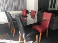 Designer Dinning Room Table and 6 Chairs