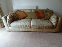2 Leather sofas, free to collector