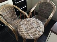 Bamboo table and chair conservatory set