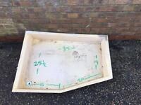 Caravan/ camper shower tray