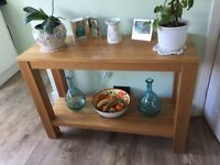 Solid oak conceal table excellent condition