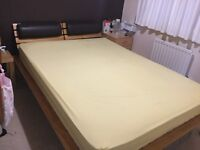 Oak double bed