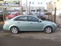 Chevrolet LACETTI CDX,5 dr hatchback,rare Auto,full MOT,full leather interior,super low miles 30,000
