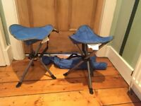 2 x Blue Mountain Camping Stools